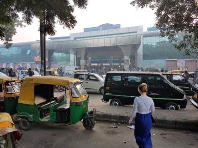 Bahnhof Hazrat Nizzamuddin in Delhi