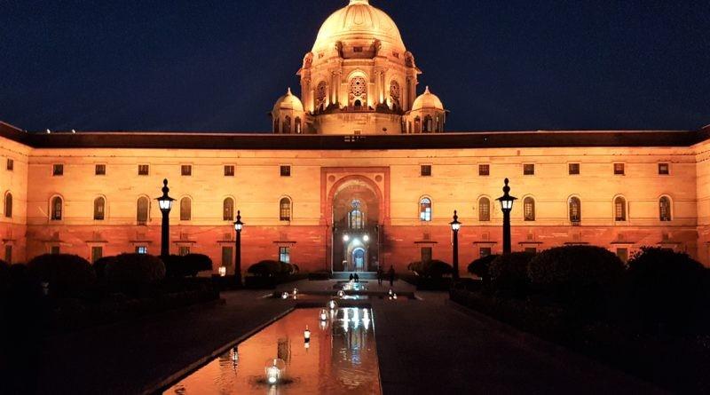 Königliche Promenade Rajpath in Delhi