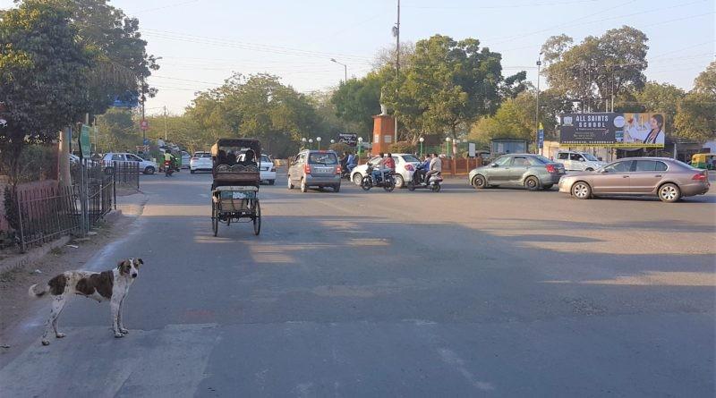 Straße in Agra