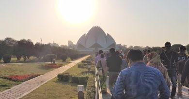 Weg Lotustempel Delhi