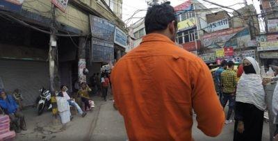 Weg zum Bazar in Delhi