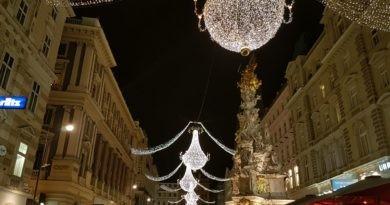 Weihnachtsbeleuchtung Graben